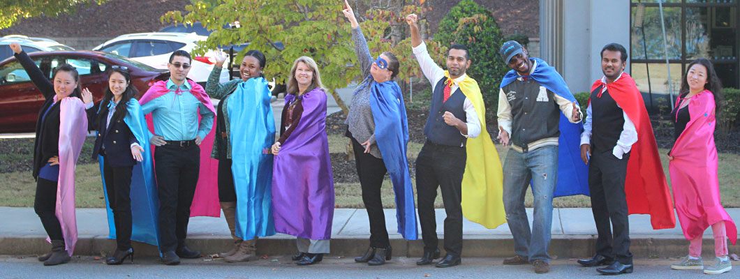 Aventure staff at Atlanta Operations don capes to support Children's Healthcare of Atlanta.