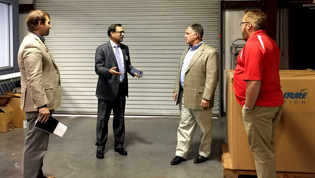 Congressman Drew Ferguson Visits Aventure Aviation's Atlanta Operations in Peachtree City.