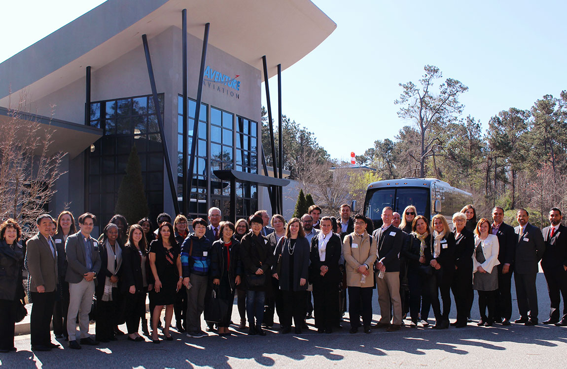 International trade reps visit Aventure Aviation
