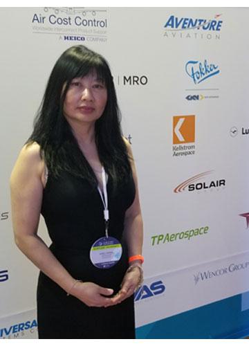 Aventure Aviation Business Development Executive Sueli Kwak at CCMA & MRO.