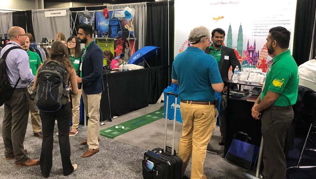 Aventure Aviation booth at MRO Americas 2019 in Atlanta