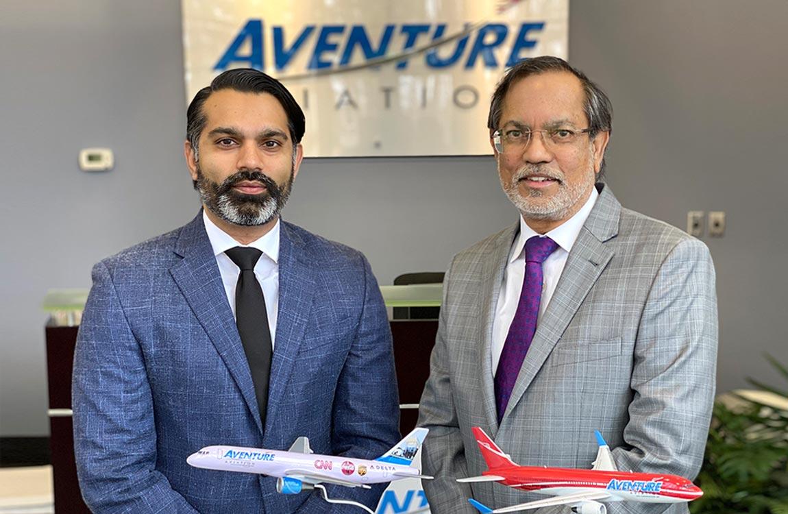 Aventure Aviation President Talha Faruqi and CEO Zaheer Faruqi.