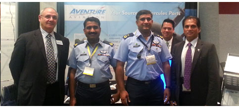 Aventure Aviation staff with Pakistan Airforce members at HOC and TCG C-130 Tradeshows