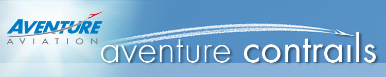 Aventure Aviation Contrails - Happy Holidays